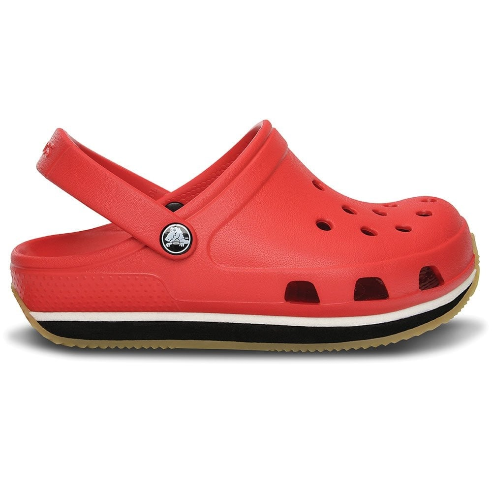 Crocs Kids Retro Clog Red/Black, Slip on shoe with 21st ...