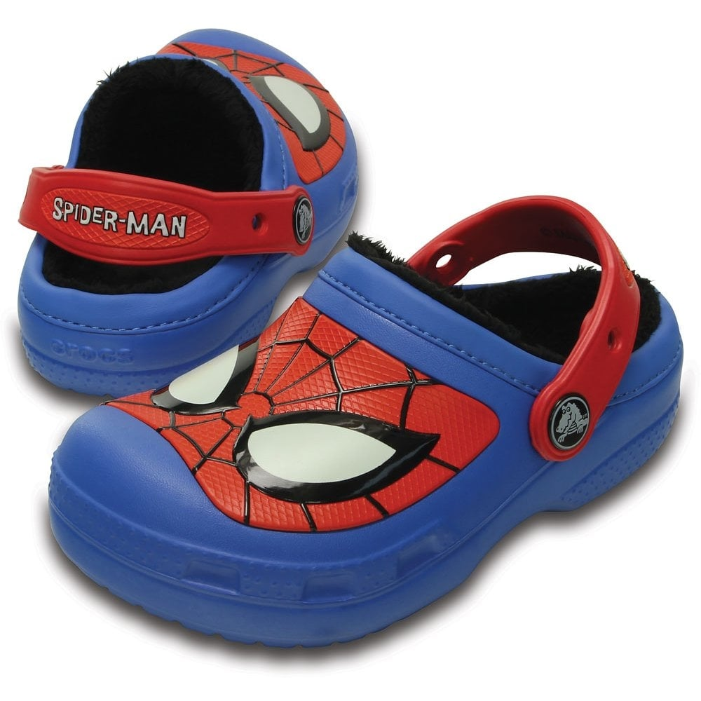 7d1318f6a Crocs Kids Spiderman Lined Clog Varsity Blue