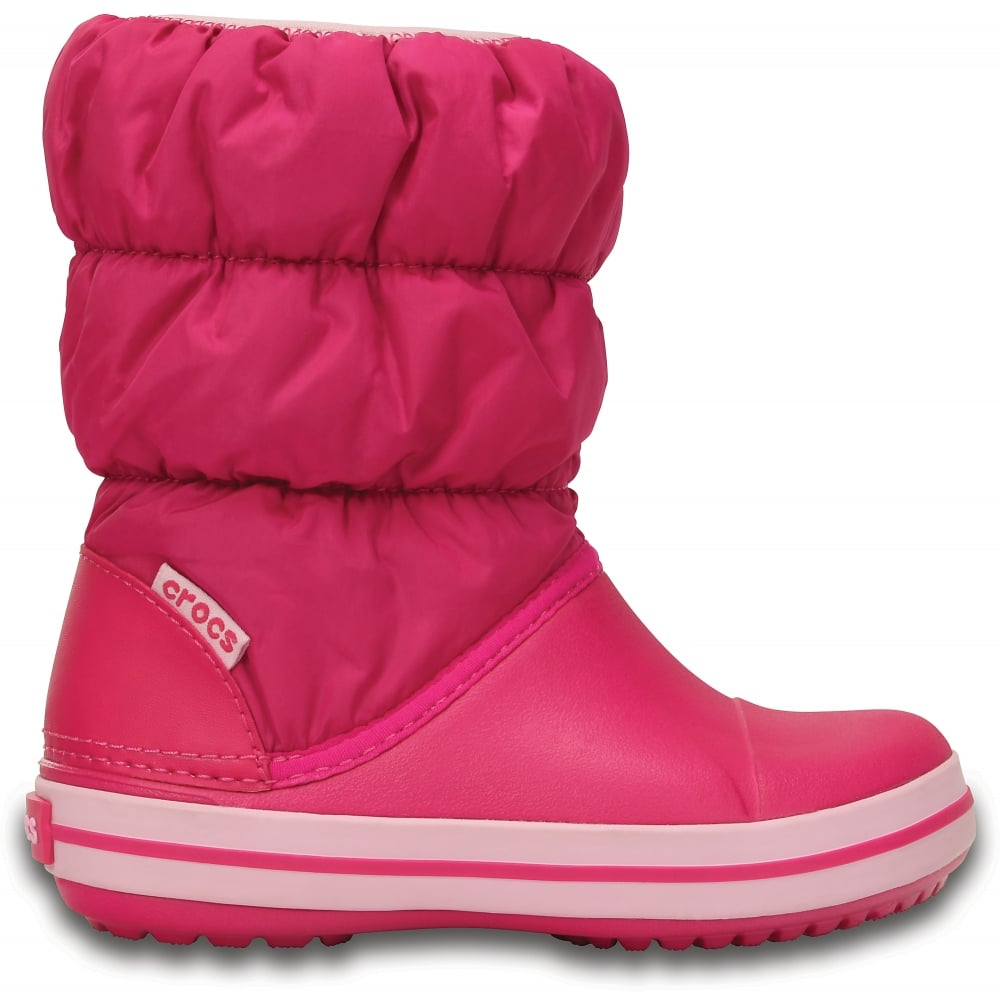 85e463c0e5dfa Crocs Kids Winter Puff Boot Candy Pink - Kids from Jellyegg UK