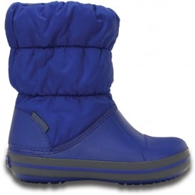 Crocs Kids Winter Puff Boot Cerulean Blue/Light Grey