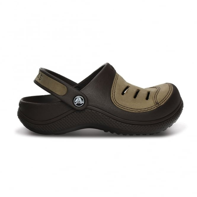 Crocs Kids Yukon Clog Espresso/Espresso, Leather topped slip on shoes