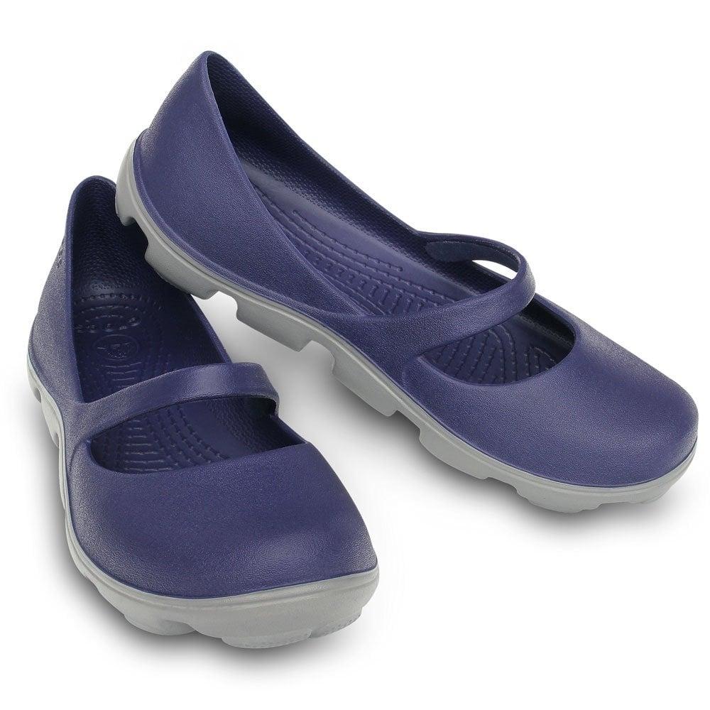 90a6580f30daf0 Crocs Ladies Duet Sport Mary Jane Navy Smoke