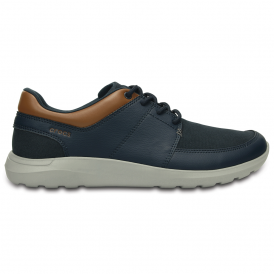 Mens Kinsale Lace Up Navy/Light Grey, the perfect casual leather shoe