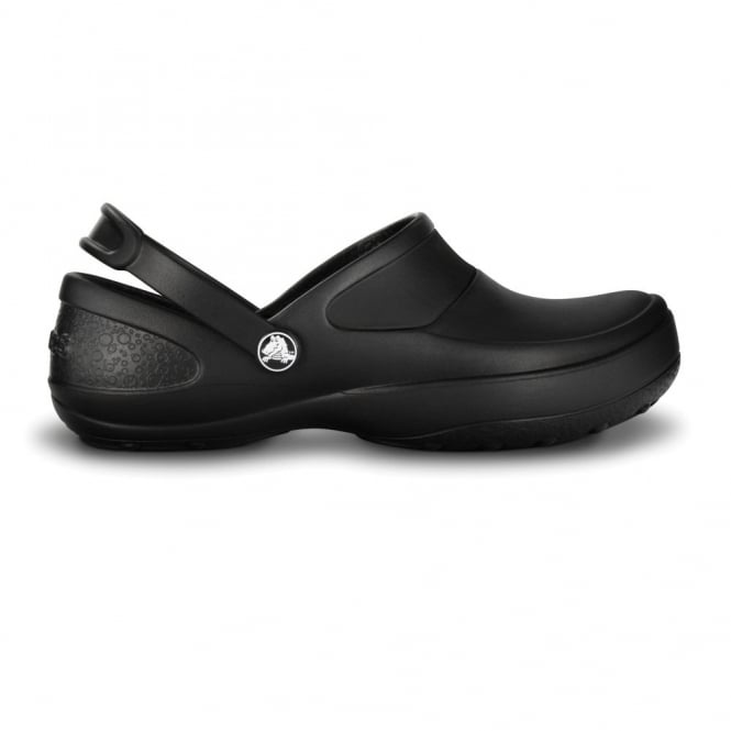 Crocs Mercy Work Black/Black, Fully molded Croslite clog, with Lock non slip soles and back strap