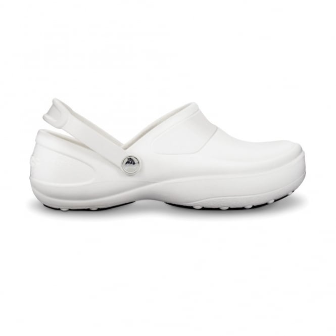 Crocs Mercy Work White/White, Fully molded Croslite clog, with Lock non slip soles and back strap