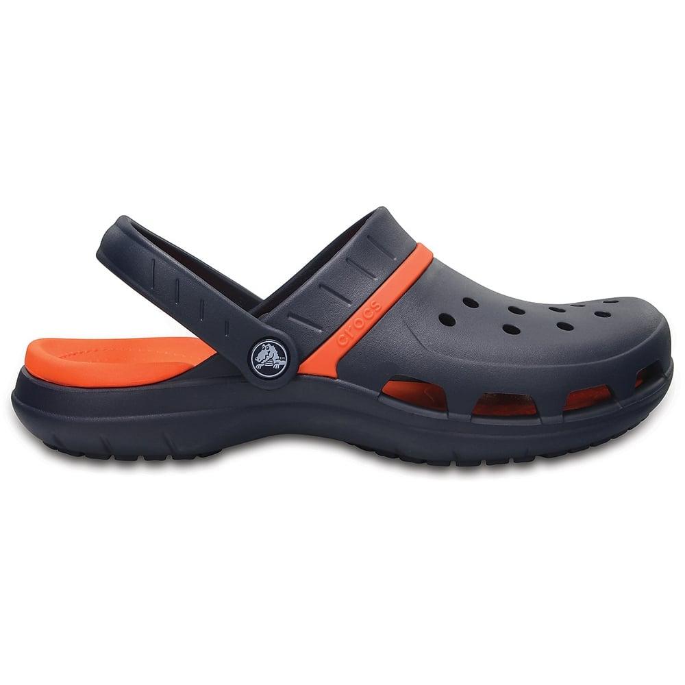 b0bdc8259261 Crocs Modi Sport Clog Navy Tangerine