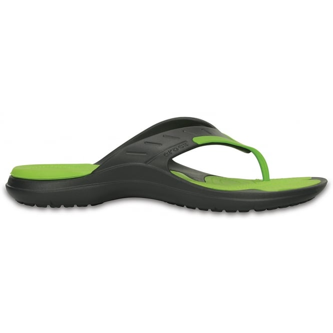 Crocs Modi Sport Flip Graphite/Volt Green, Dual density comfort for softer feel