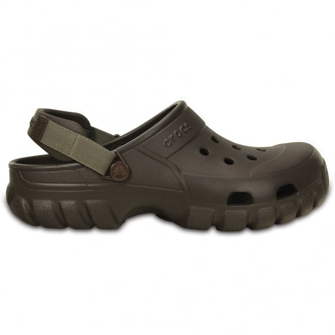 Crocs Offroad Sport Clog Espresso/Walnut, the comfort of a classic but with a rugged look & adjustable heel strap