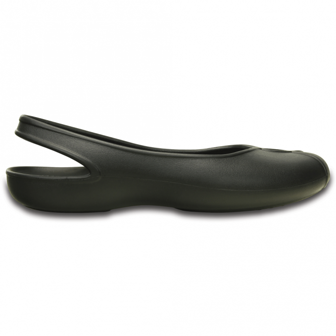 Crocs Olivia II Flat Black, new sleek slingback