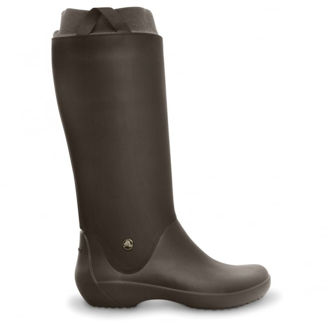 Crocs RainFloe Boot Espresso, Exceptionally light rain boot with soft lining