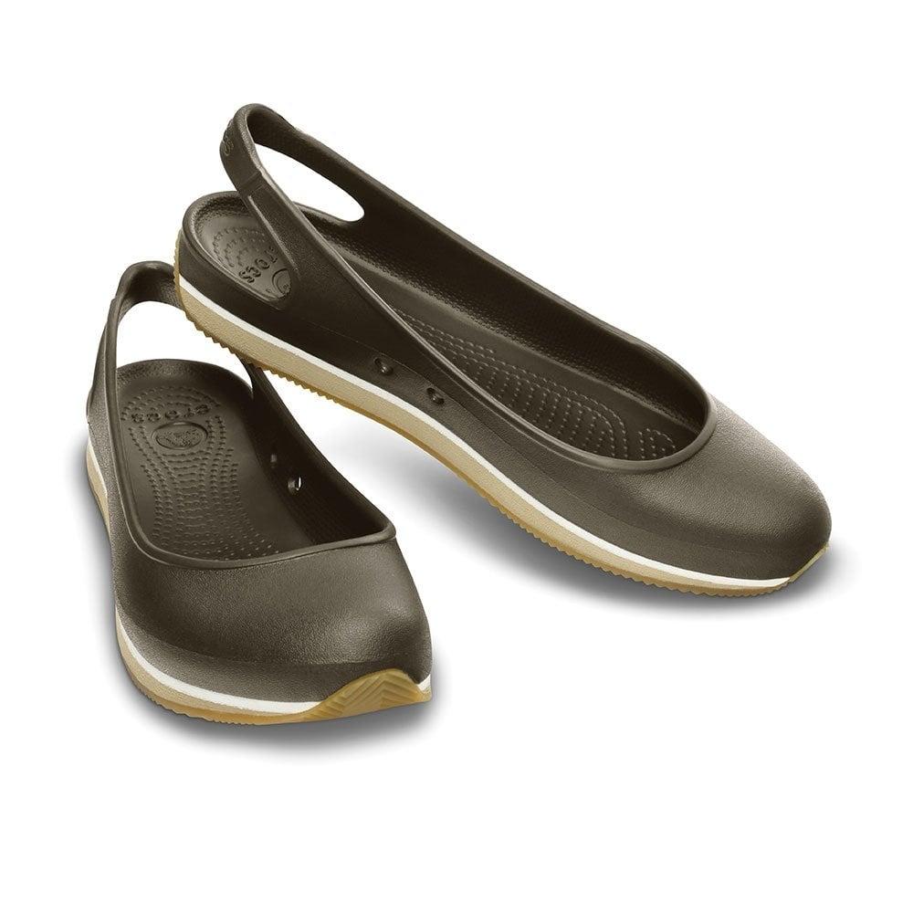 d5aa4fe17162b9 Crocs Retro Slingback Flat Espresso Chai