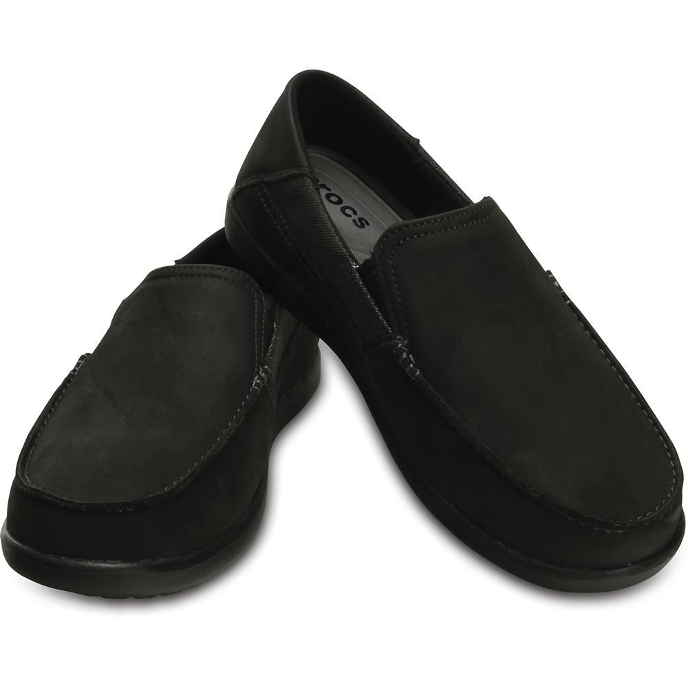 crocs santa cruz 2 luxe leather black