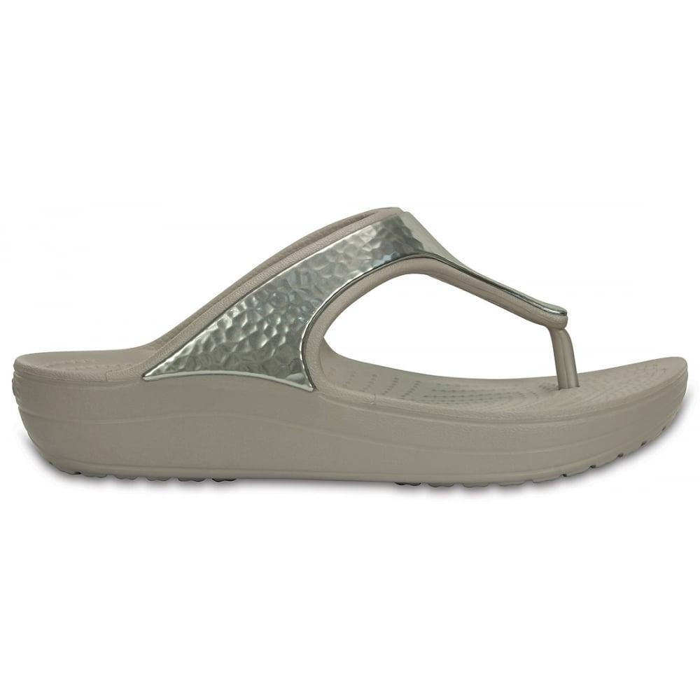 Sloane Embellished Flip Platinum A Pretty And Feminine Everyday Platform Flop
