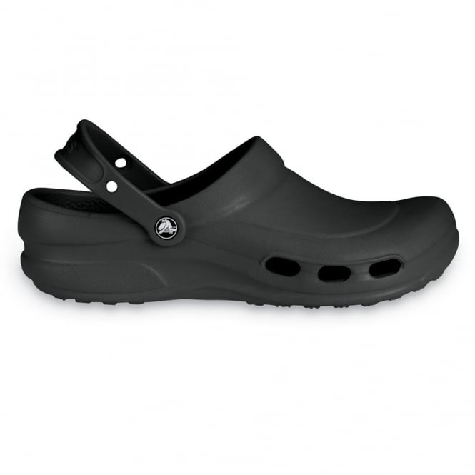 Crocs Specialist Clog Vent Black, Light and comfortable work shoe with ventilation ports
