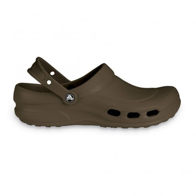 Crocs Specialist Clog Vent Chocolate, Light and comfortable work shoe with ventilation ports