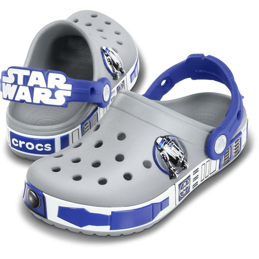 Crocs Star Wars R2D2 Clog Light Grey Cerulean Blue b0153ba197