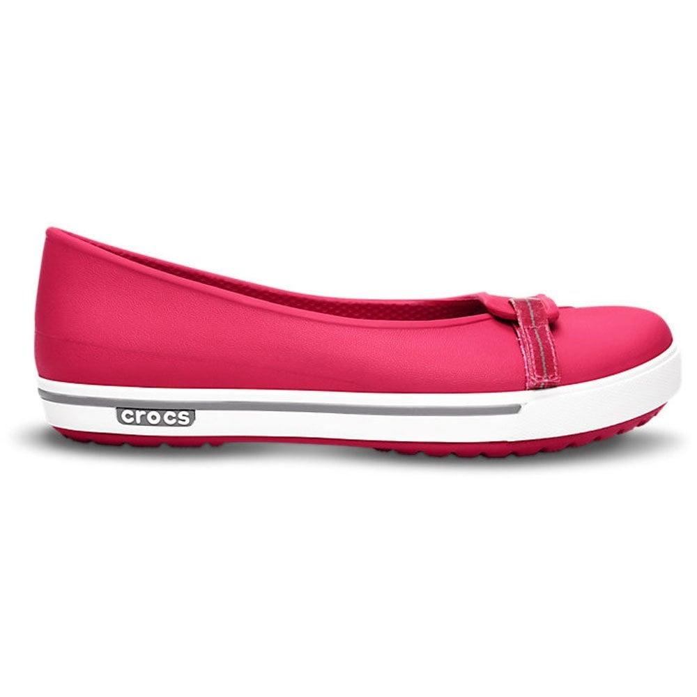 2d692118061da9 Crocs Womens Crocband II.5 Flat Raspberry Smoke