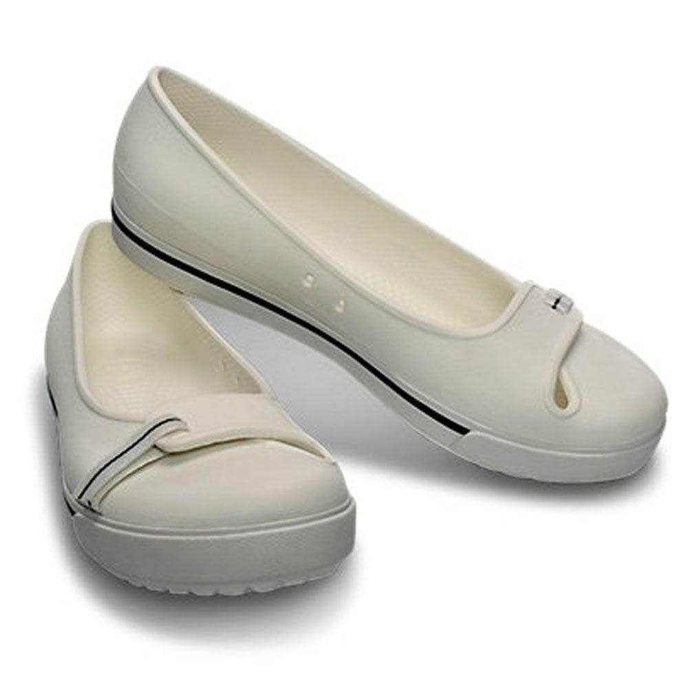 715e96eed01ebe Crocs Womens Crocband II.5 Flat White Navy