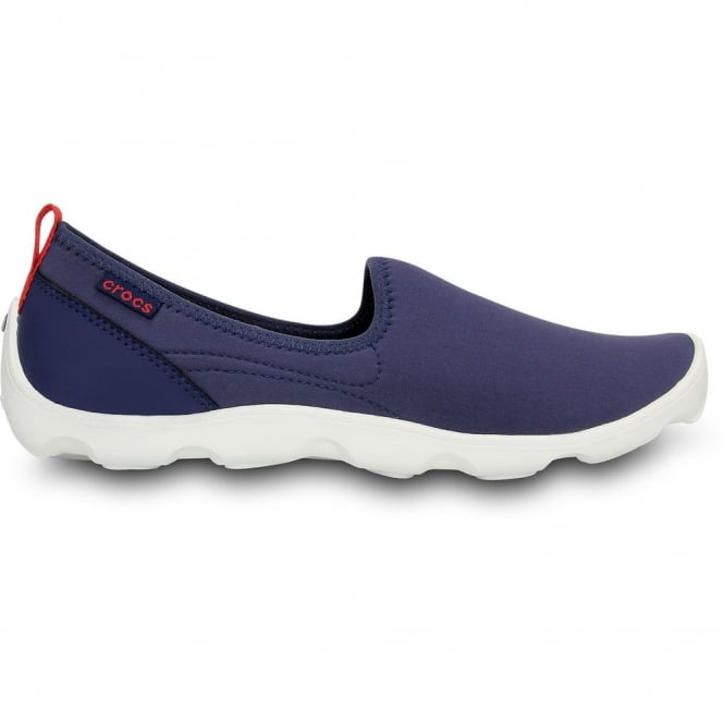 Crocs Womens Duet Busy Day Skimmer Nautical Navy/White, Comfort footbed with soft stretchy shell uppers