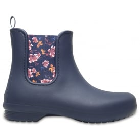 Crocs Women's Freesail Chelsea Boot Navy Floral