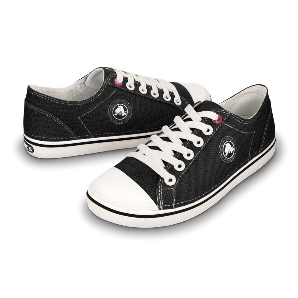 a54113e20cd7 Crocs Womens Hover Lace Up Black White