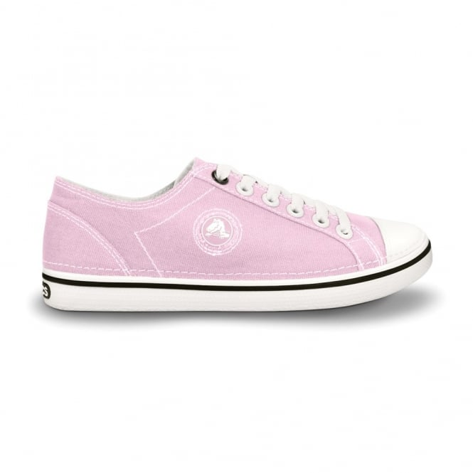 Crocs Womens Hover Lace Up Bubblegum/White, Light weight canvas lace up shoe