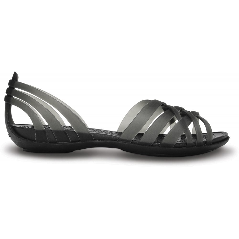 73da9b0a25eda8 Crocs Womens Huarache Flat Black Black