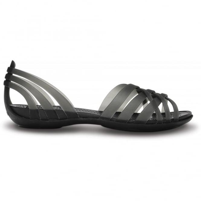 Crocs Womens Huarache Flat Black Black Comfortable