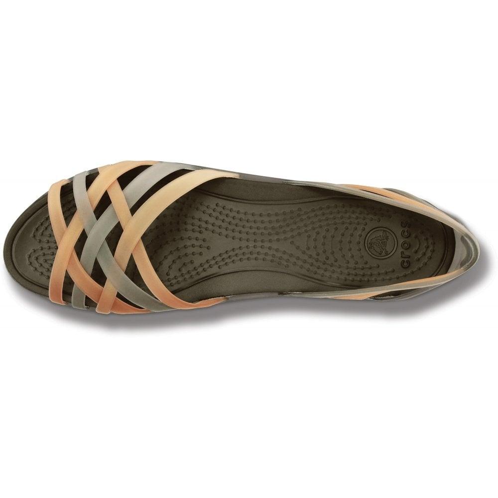 5cd1e81f16b9f Womens Huarache Flat Bronze/Espresso, Comfortable elegant, strappy flat