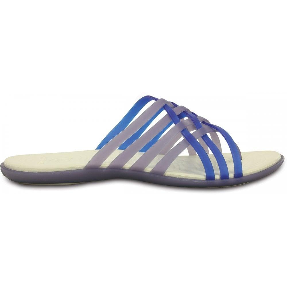 a552fbaaa936 Crocs Womens Huarache Flip Navy Cerulean Blue
