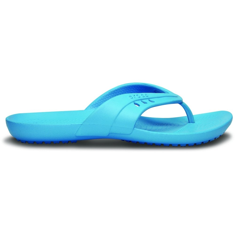 1c4a3cf8f88844 Crocs Womens Kadee Flip Electric Blue