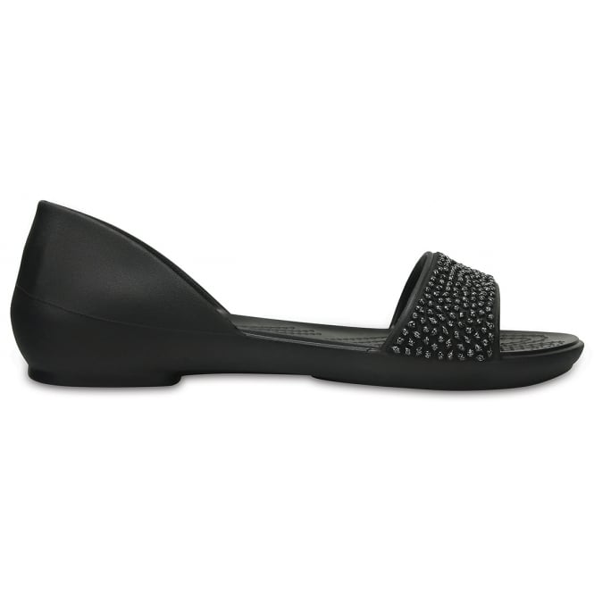 Crocs Womens Lina Embellished D'Orsay Black/Black, A sparkle in your step