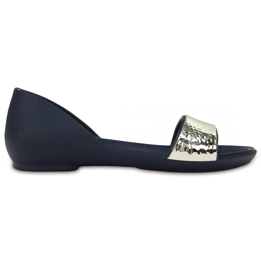 100622b21a72ea Crocs Womens Lina Embellished D Orsay Navy Silver