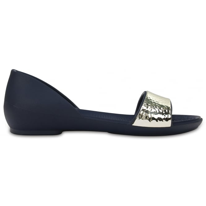 Crocs Womens Lina Embellished D'Orsay Navy/Silver, A sparkle in your step