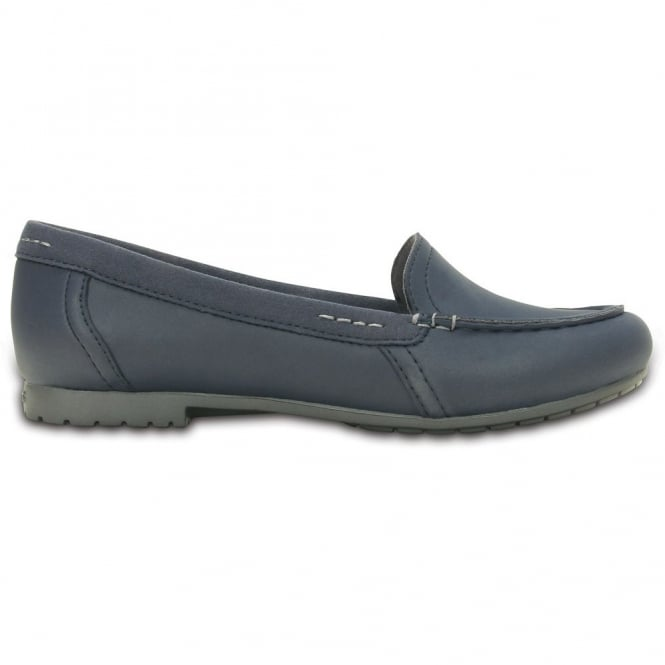 Crocs Womens Marin Colurlite Loafer Navy/Graphite, light and easy to wear