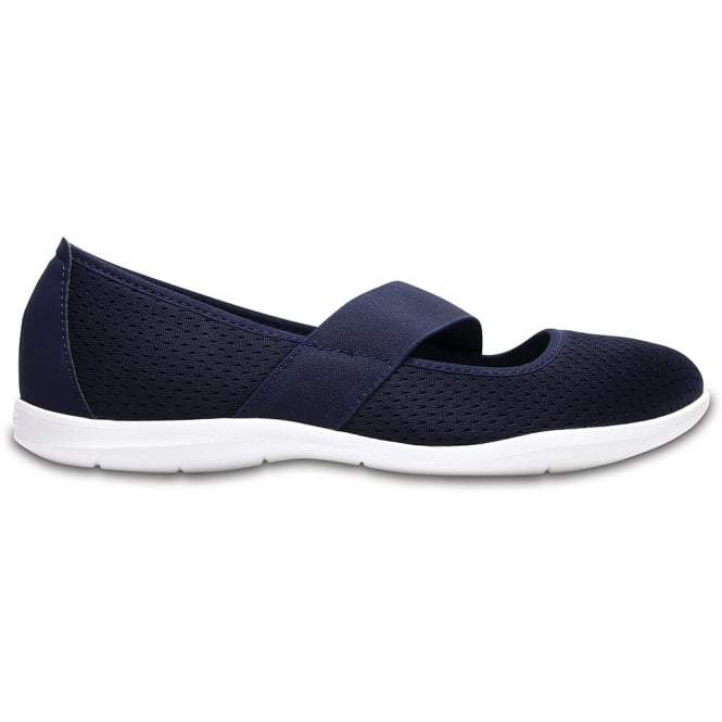Crocs Womens Swiftwater Flat Navy/White, Mesh uppers, lined for comfort