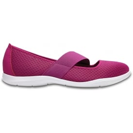 Womens Swiftwater Flat Vibrant Violet/White, Mesh uppers, lined for comfort