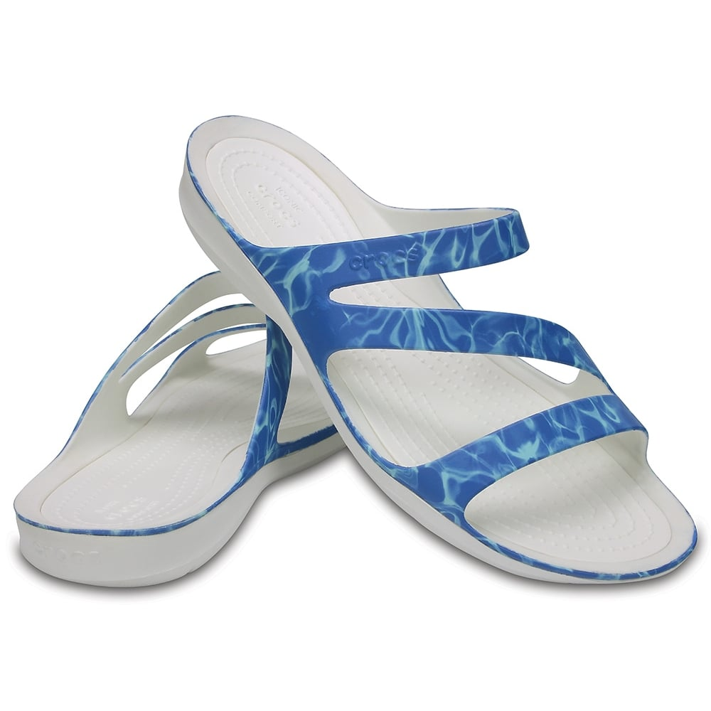 Womens Swiftwater Graphic Sandal Water/White, Water friendly and lightweight