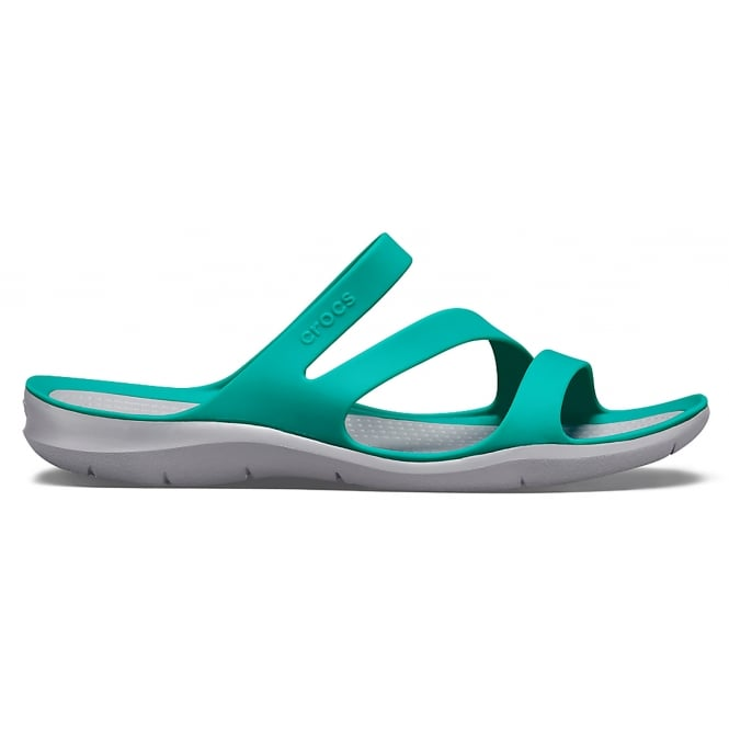 Crocs Womens Swiftwater Sandal Tropical Teal /Light Grey, Water friendly and lightweight