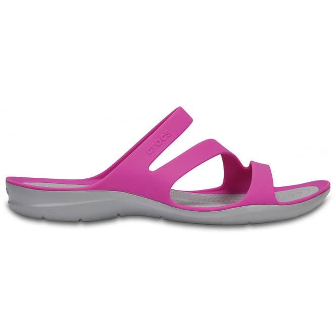 Crocs Womens Swiftwater Sandal Vibrant Violet, Water friendly and lightweight