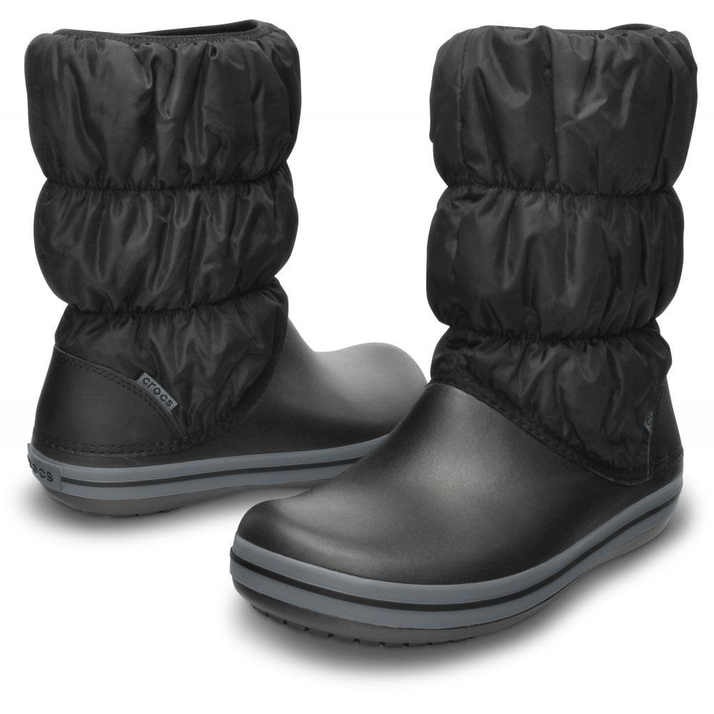Womens Winter Puff Boot BlackCharcoal puffed boots for warmth