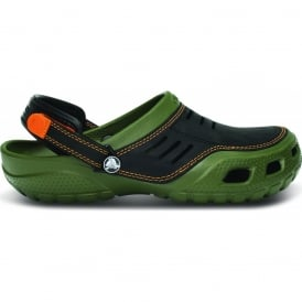 Yukon Sport Army Green/Black, Men's Leather Topped Slip on Shoe