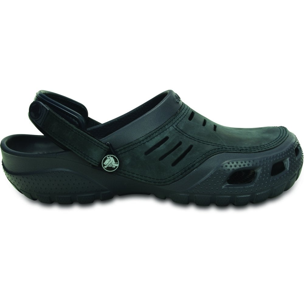 1aac121b48ab3 Crocs Yukon Sport Storm/Navy, Men's Leather Topped Slip on Shoe ...