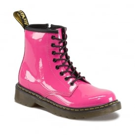 Delaney Boot Pink Patent, the classic Dr Martens for tiny feet