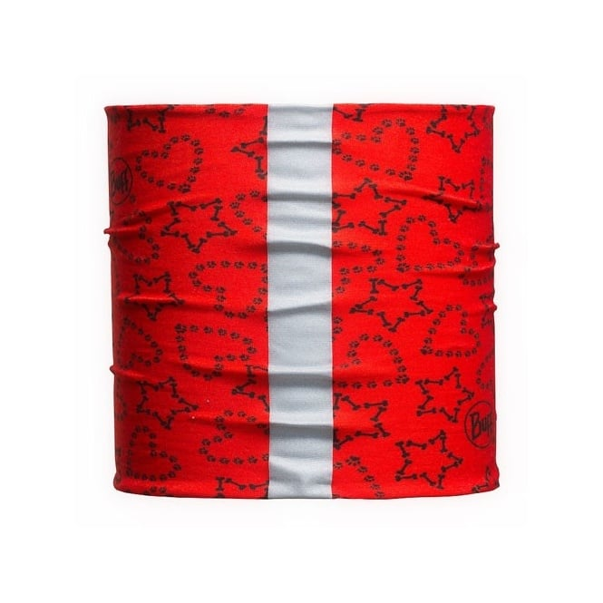 Buff Dog 2014 Hearts & Stars Red (M/L), Neckwear with reflective strip
