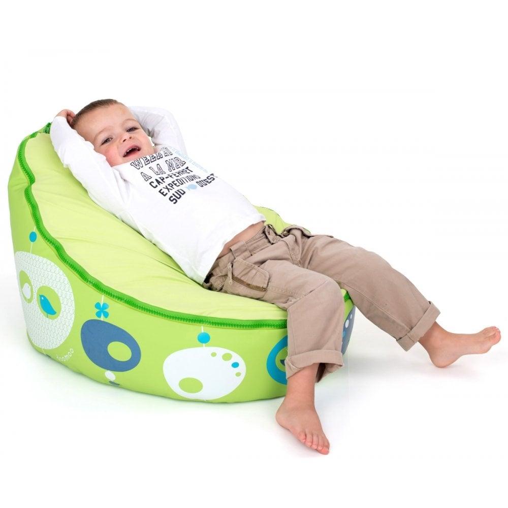 Doomoo Zitzak Lime.Seat Bird Lime Bean Bag For Babies Kids