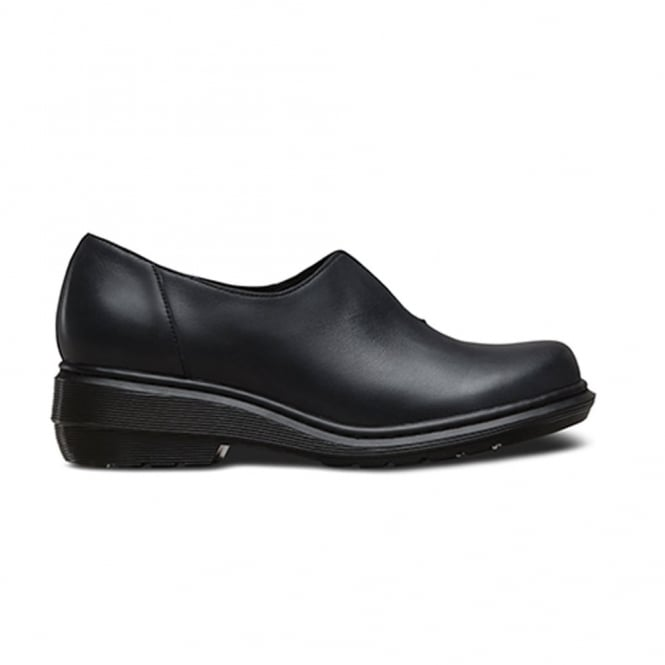 Dr Martens Annalina Black, leather slip on shoe