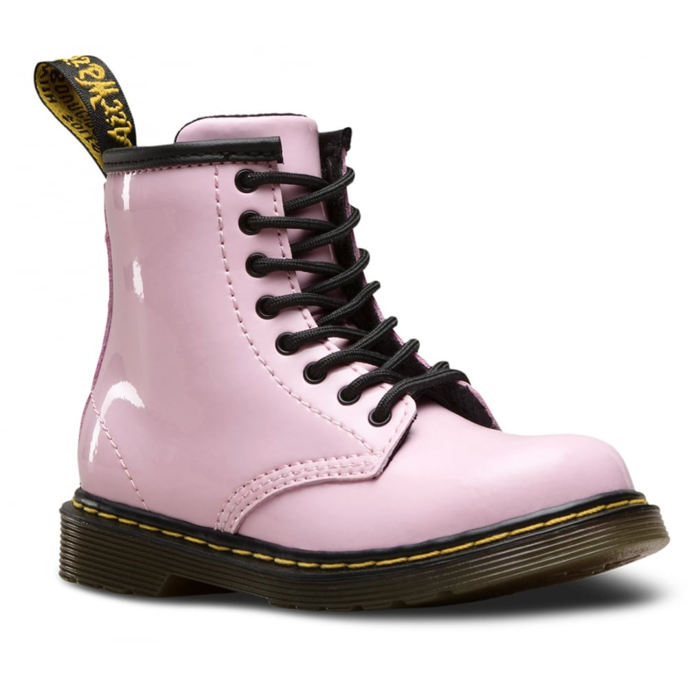 Dr Martens Brooklee Boot Patent Baby Pink Infant Kids