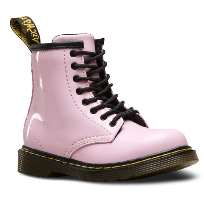 Dr Martens Brooklee Boot Patent Baby Pink Infant