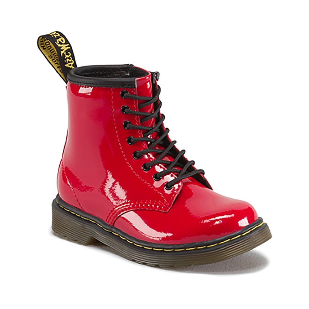 Dr Martens Brooklee Boot Patent Red Infant Kids From